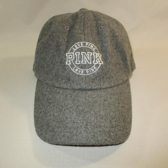 PINK Victoria's Secret Accessories - Victoria's Secret Love Pink Grey Wool Cap OS